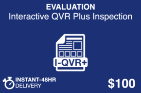 EVALUATION interactive QVR Plus Inspection